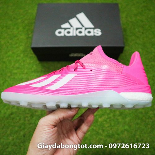 Giay adidas x19.1 tf hong vach xam (12)
