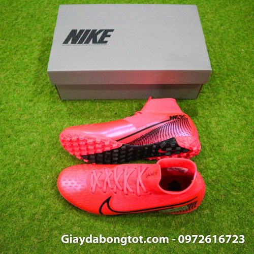 Giay bong da cao co nike mercurial superfly 7 elite tf do vach den (2)