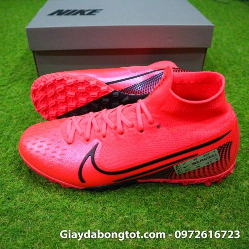 Giay bong da cao co nike mercurial superfly 7 elite tf do vach den (3)