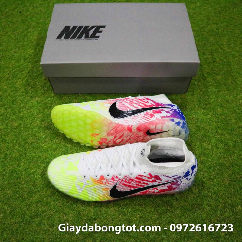 Giay bong da co cao Nike Mercurial Superfly 7 Elite TF Neymar vang do xanh moi nhat (2)