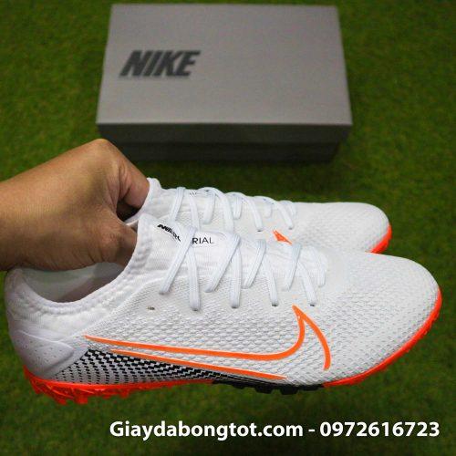 Giay da banh da vai Nike Mercurial Vapor 13 Pro tf trang vach cam (10)
