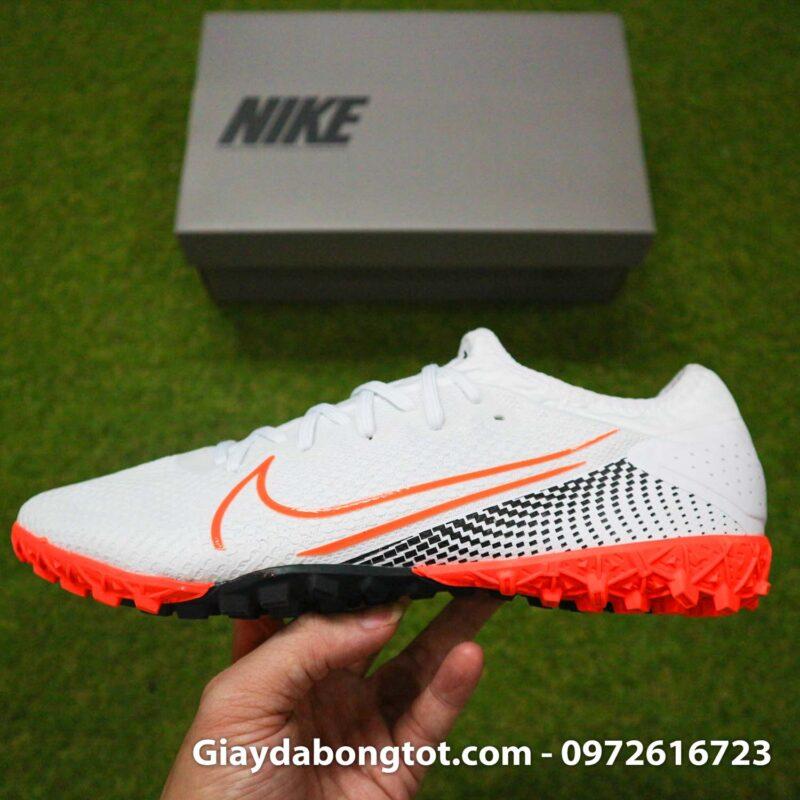 Giay da banh da vai Nike Mercurial Vapor 13 Pro tf trang vach cam (13)