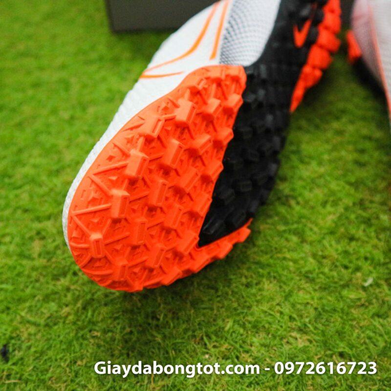 Giay da banh da vai Nike Mercurial Vapor 13 Pro tf trang vach cam (6)