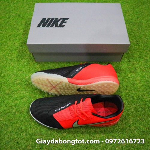 Giay da banh san co nhan tao nike phantom zoom pro tf do den (2)