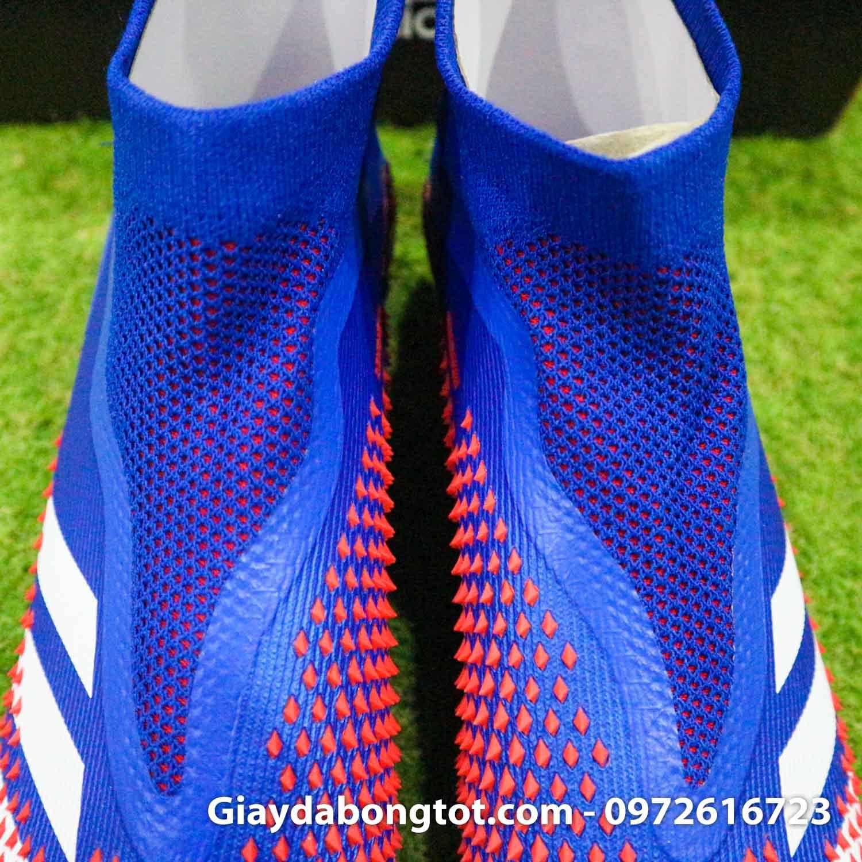 Giay da bong Adidas Predator 20 gai nhon mau xanh duong vach trang (8)