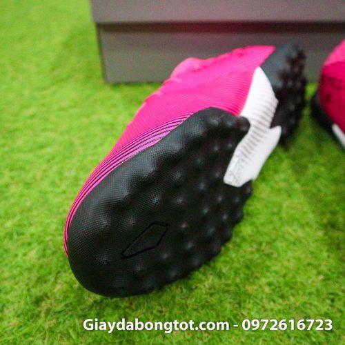 Giay da bong chan be adidas nemeziz 19 tf hong vach den (6)