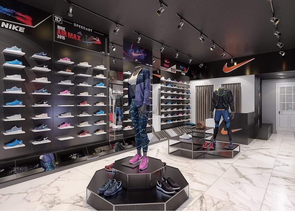 Nhiều thành phố lớn tại Việt Nam có các store Nike chính hãng