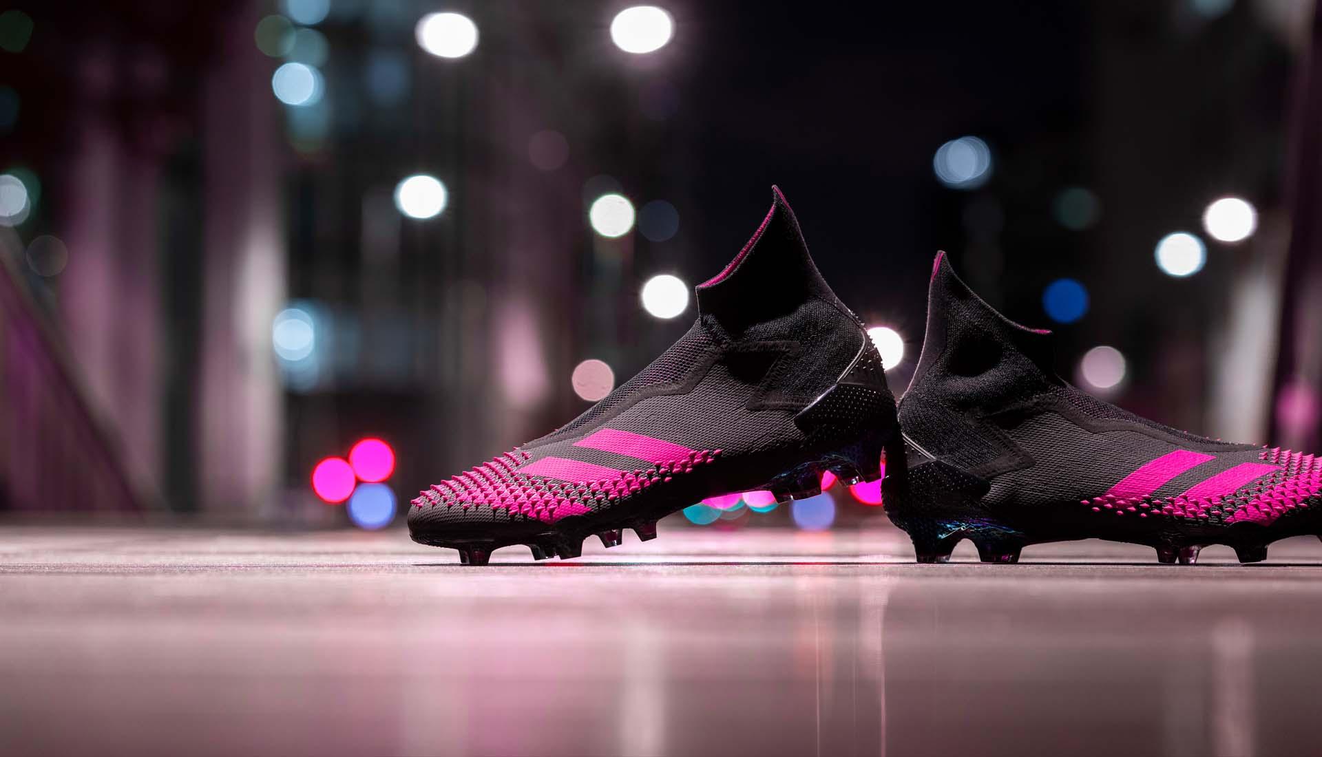 Predator 20+ FG màu đen với các thiết kế điểm nhấn màu hồng đẹp mắt