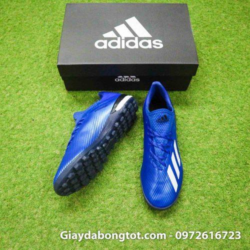Giay bong da adidas x 19 1 xanh duong dam vach trang (5)