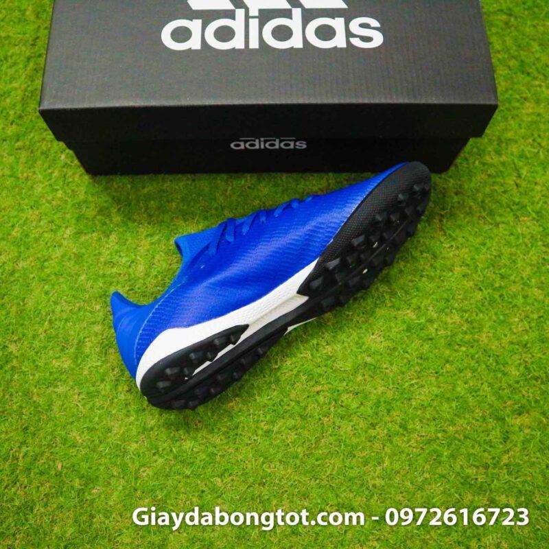 Giay da banh adidas x19.3 tf xanh duong dam vach trang (10)
