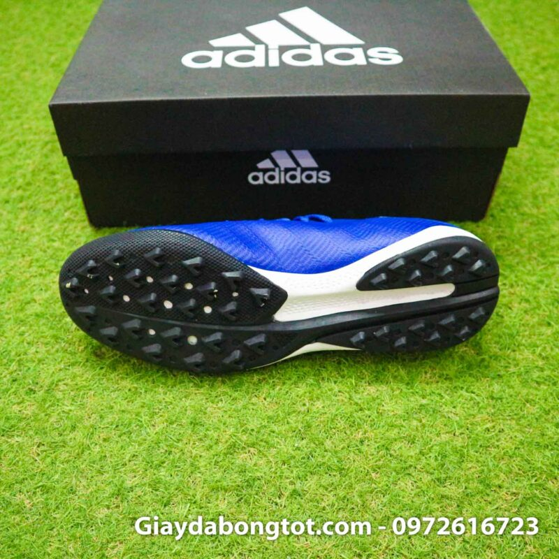 Giay da banh adidas x19.3 tf xanh duong dam vach trang (4)