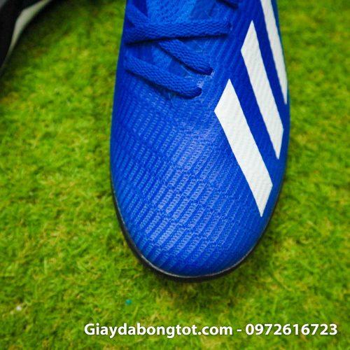 Giay da banh adidas x19.3 tf xanh duong dam vach trang (7)