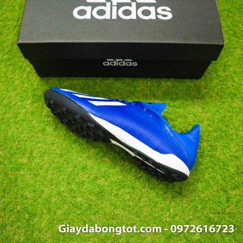 Giay da banh adidas x19.3 tf xanh duong dam vach trang (9)