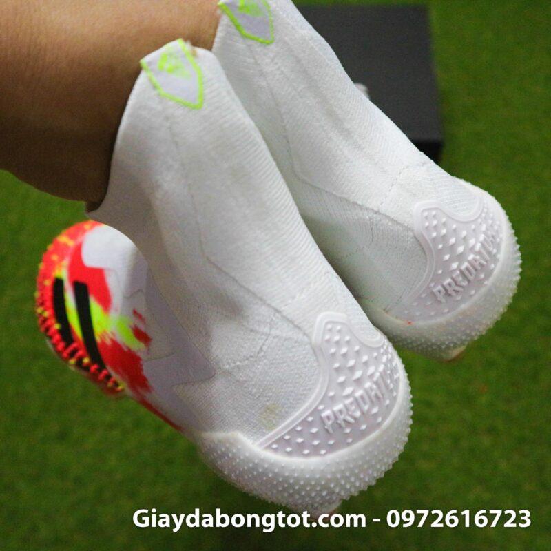 Giay da banh khong day adidas predator 20+ fg trang cam vach den (1)