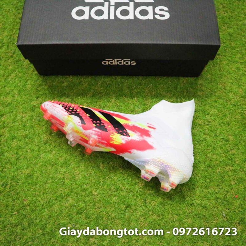 Giay da banh khong day adidas predator 20+ fg trang cam vach den (10)