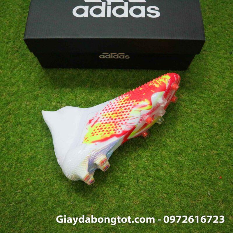 Giay da banh khong day adidas predator 20+ fg trang cam vach den (11)