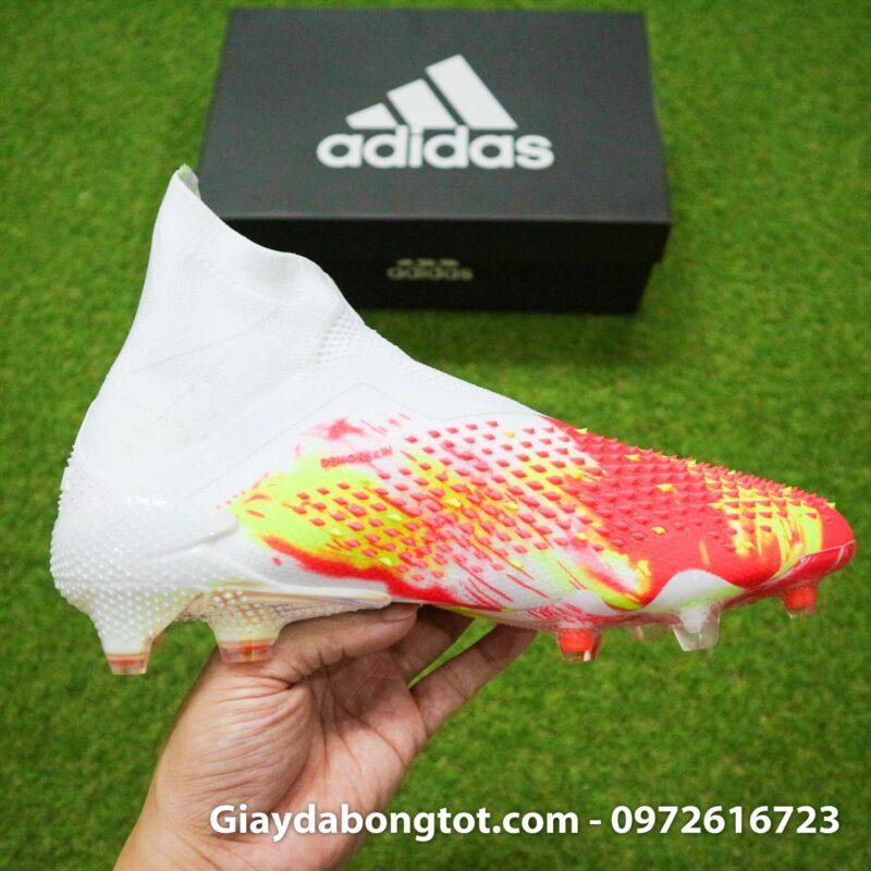 Giay da banh khong day adidas predator 20+ fg trang cam vach den (13)