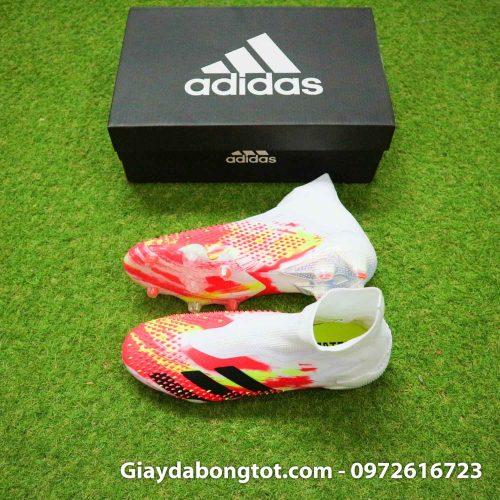 Giay da banh khong day adidas predator 20+ fg trang cam vach den (2)