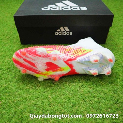 Giay da banh khong day adidas predator 20+ fg trang cam vach den (4)