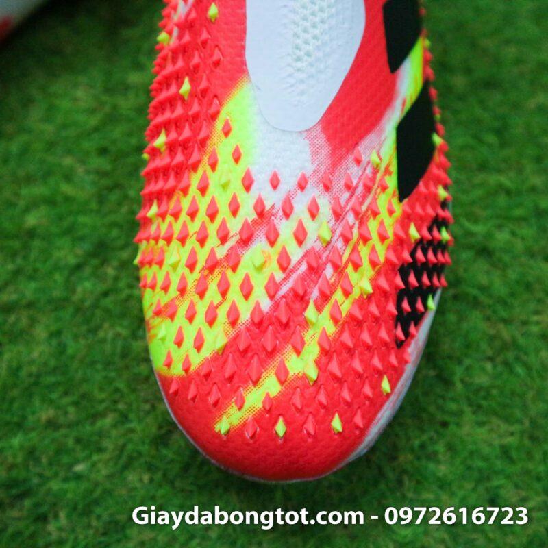 Giay da banh khong day adidas predator 20+ fg trang cam vach den (7)