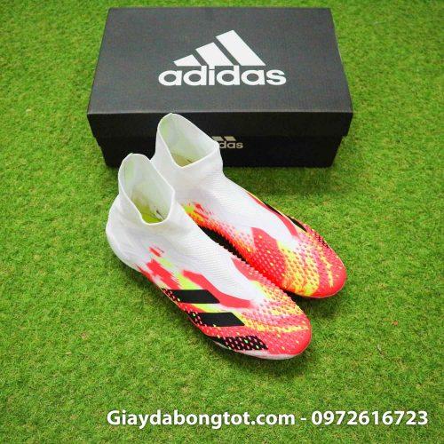 Giay da banh khong day adidas predator 20+ fg trang cam vach den (9)