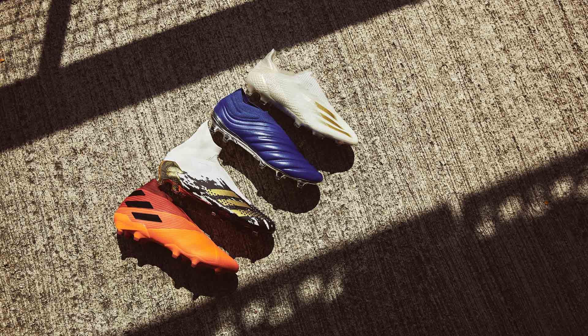 4 dòng giày đá bóng của Adidas cũng được áp dụng chất liệu da vải Prime Knit