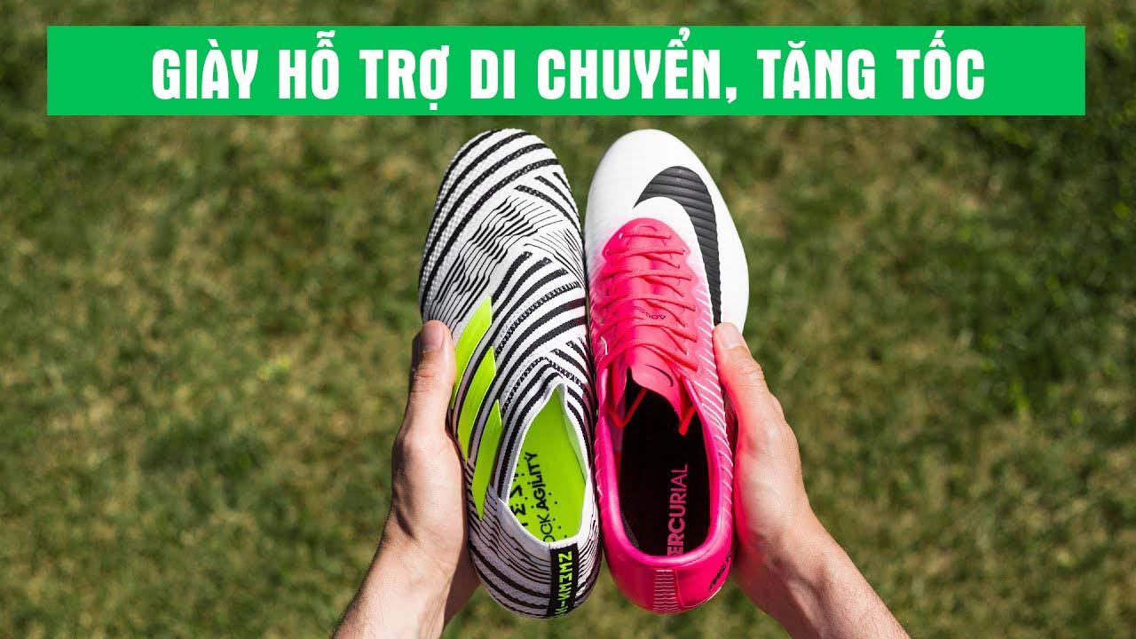 Các dòng giày bóng đá hỗ trợ di chuyển tăng tốc thường có trọng lượng nhẹ nhất
