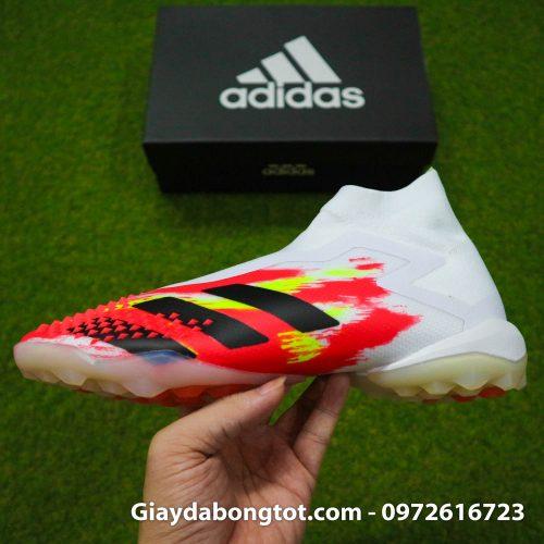 Giay san co nhan tao khong day adidas predator 20+ tf trang cam vach den (12)