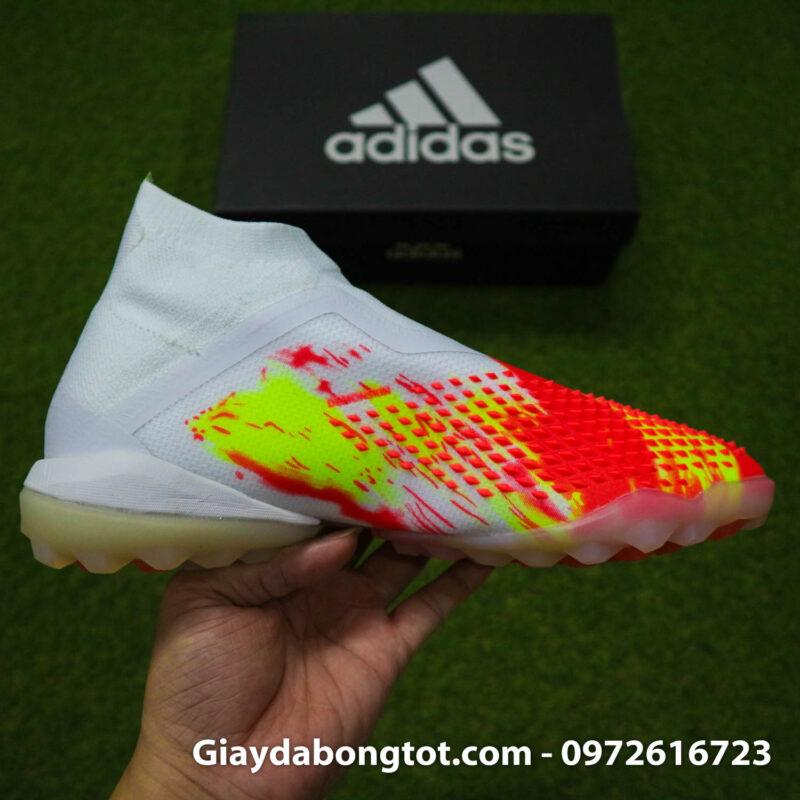 Giay san co nhan tao khong day adidas predator 20+ tf trang cam vach den (13)