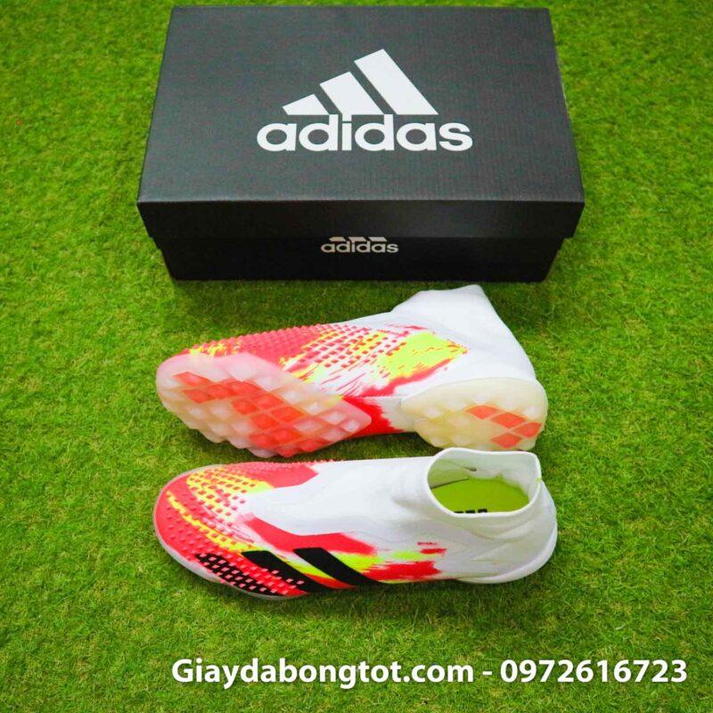 Giay san co nhan tao khong day adidas predator 20+ tf trang cam vach den (2)