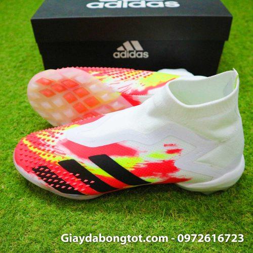 Giay san co nhan tao khong day adidas predator 20+ tf trang cam vach den (3)