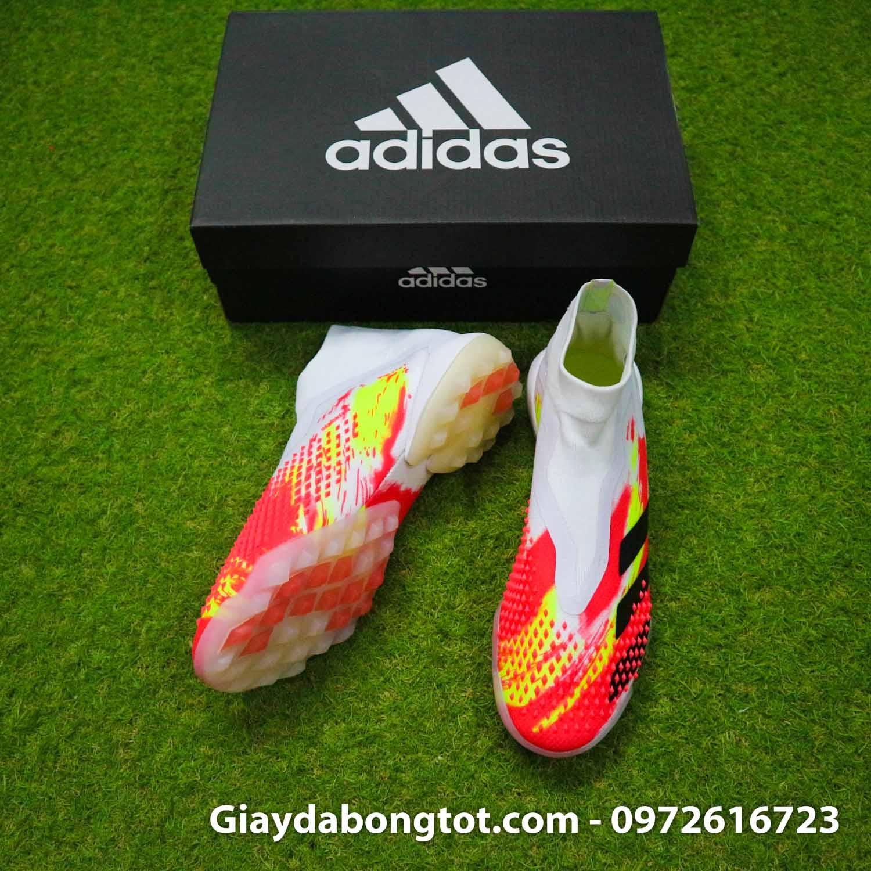Giay san co nhan tao khong day adidas predator 20+ tf trang cam vach den (5)