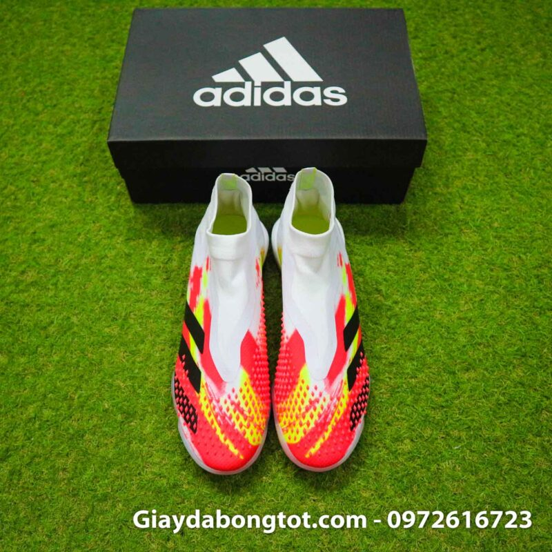 Giay san co nhan tao khong day adidas predator 20+ tf trang cam vach den (8)