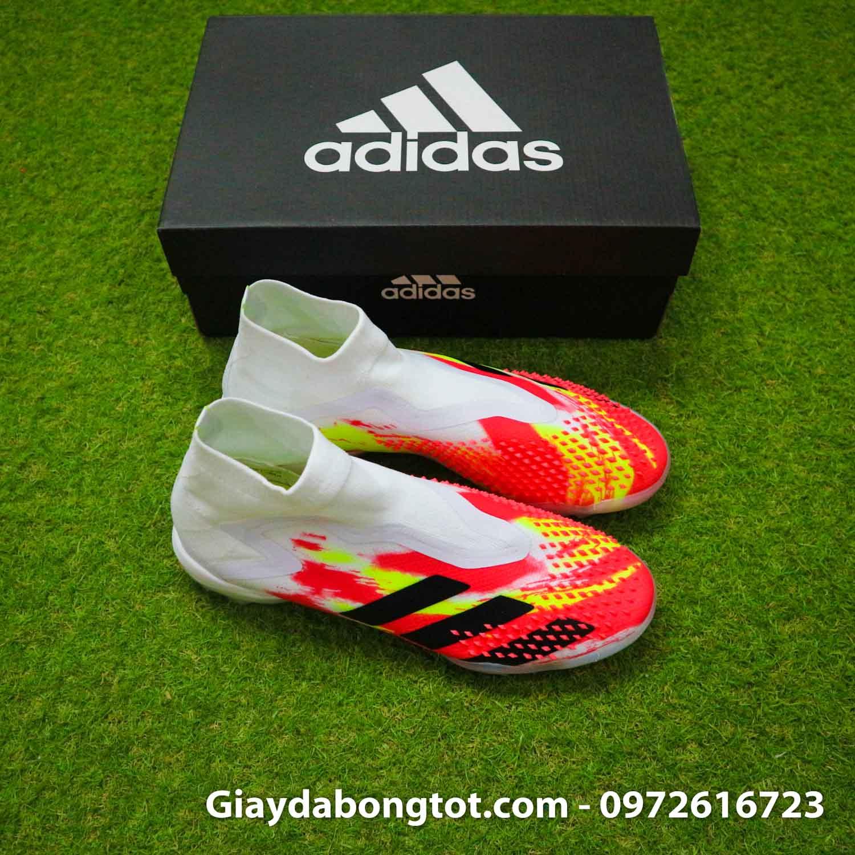 Giay san co nhan tao khong day adidas predator 20+ tf trang cam vach den (9)