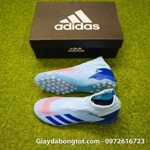Giay san co nhan tao khong day adidas predator 20.3 tf xanh nhat (2)