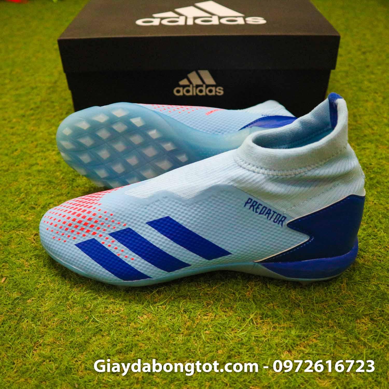 Giay san co nhan tao khong day adidas predator 20.3 tf xanh nhat (3)