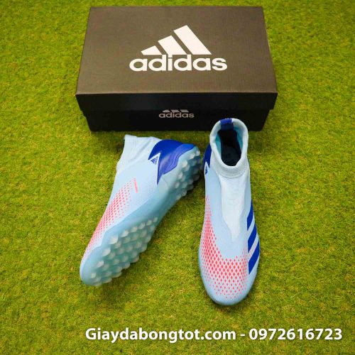 Giay san co nhan tao khong day adidas predator 20.3 tf xanh nhat (5)