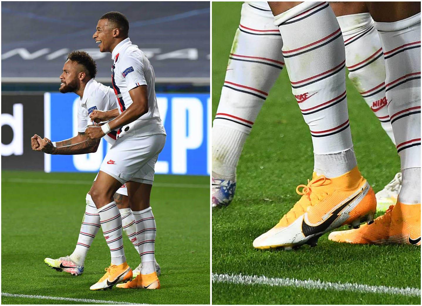 Kylian Mbappe sử dụng gam màu mới nhất của giày Nike cao cổ Mercurial Superfly 7
