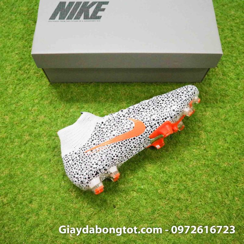 Giay bong da nike mercurial superfly 7 elite fg safari cr7 den trang (12)