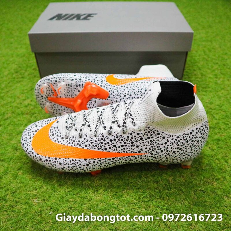 Giay bong da nike mercurial superfly 7 elite fg safari cr7 den trang (3)