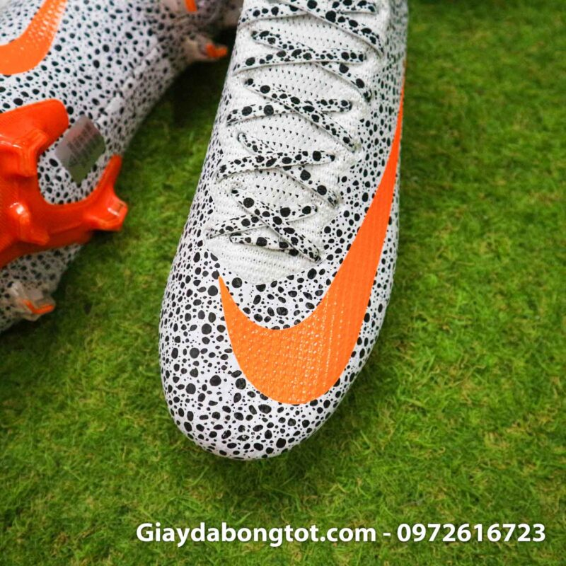 Giay bong da nike mercurial superfly 7 elite fg safari cr7 den trang (6)