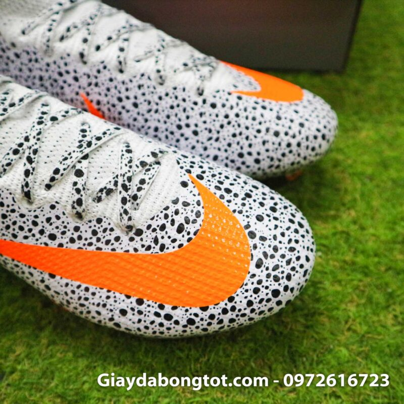 Giay bong da nike mercurial superfly 7 elite fg safari cr7 den trang (8)
