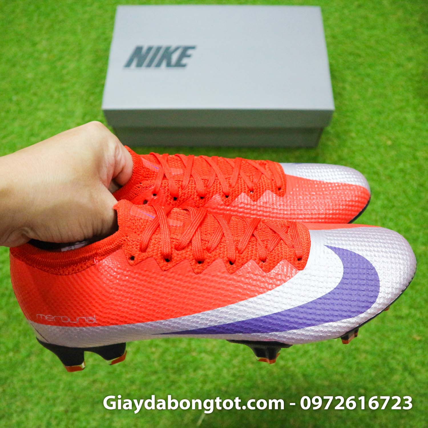 Giay bong da nike mercurial vapor 13 elite fg do bac future dna (12)