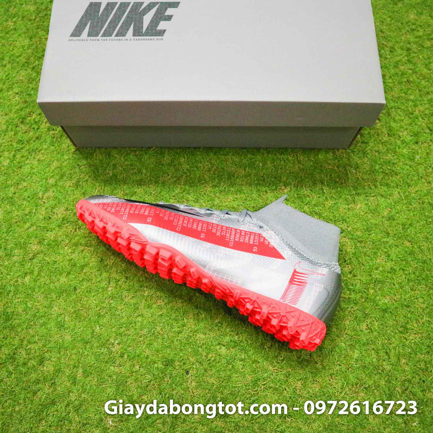 Giay da banh co cao nike mercurial superfly 7 elite tf xam vach do (10)