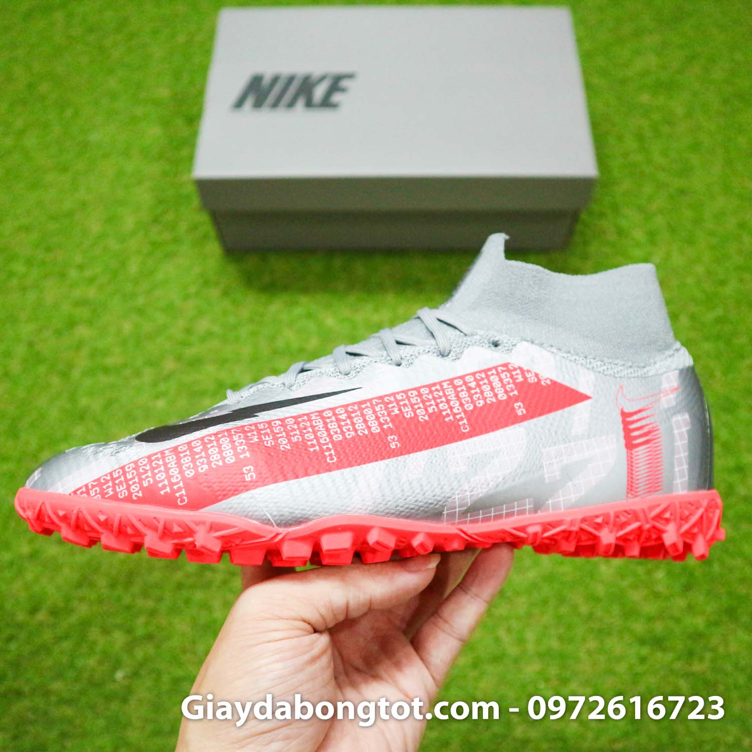 Giay da banh co cao nike mercurial superfly 7 elite tf xam vach do (12)