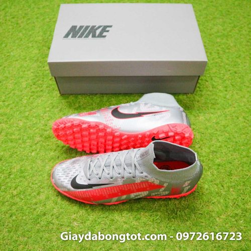 Giay da banh co cao nike mercurial superfly 7 elite tf xam vach do (2)