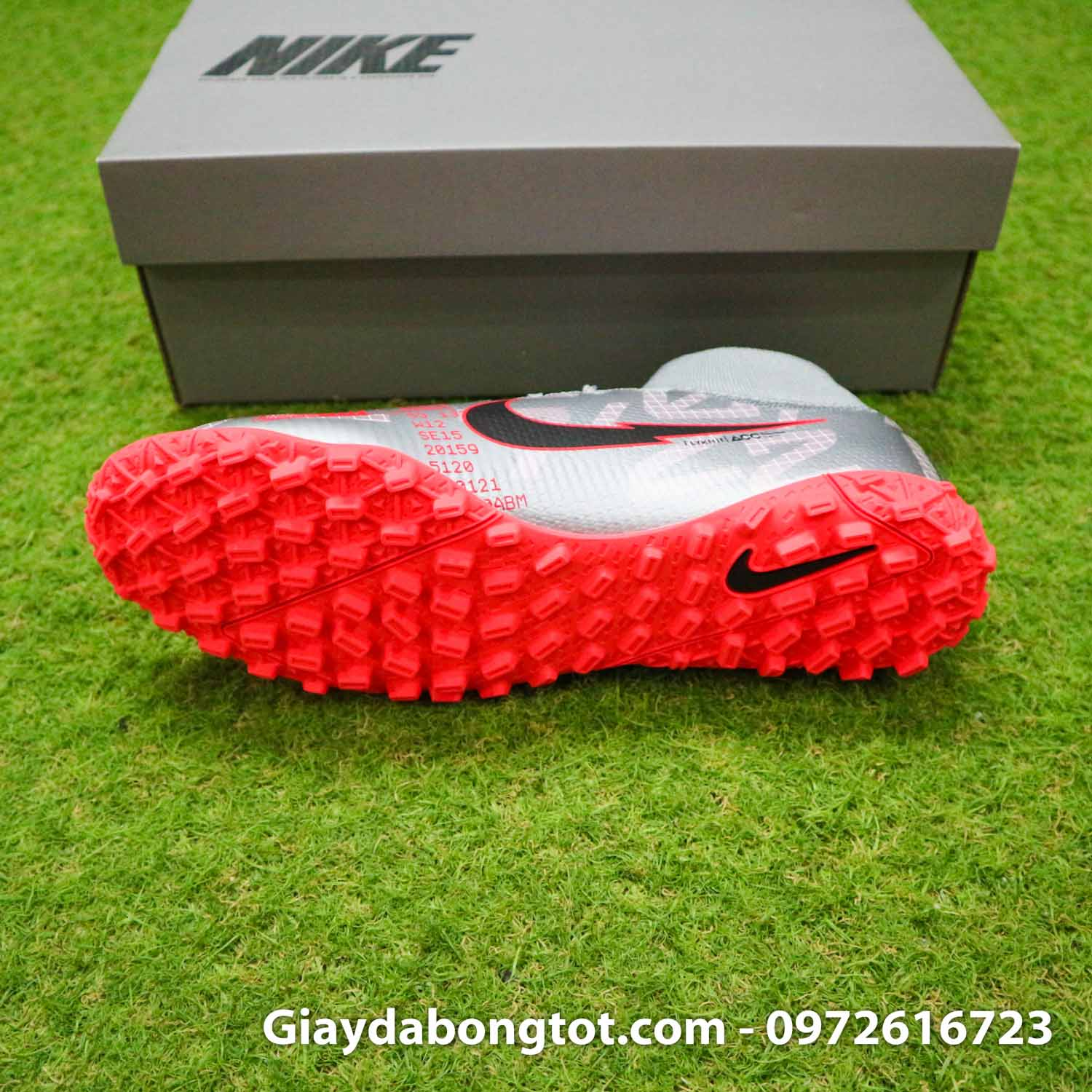 Giay da banh co cao nike mercurial superfly 7 elite tf xam vach do (4)