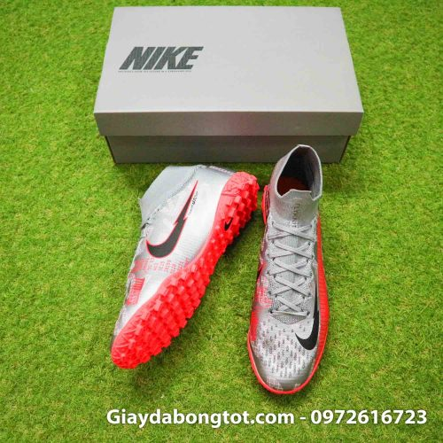 Giay da banh co cao nike mercurial superfly 7 elite tf xam vach do (5)