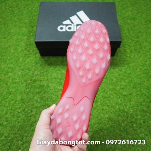 Giay da bong khong day adidas predator 20 tf do vach den de trong (1)