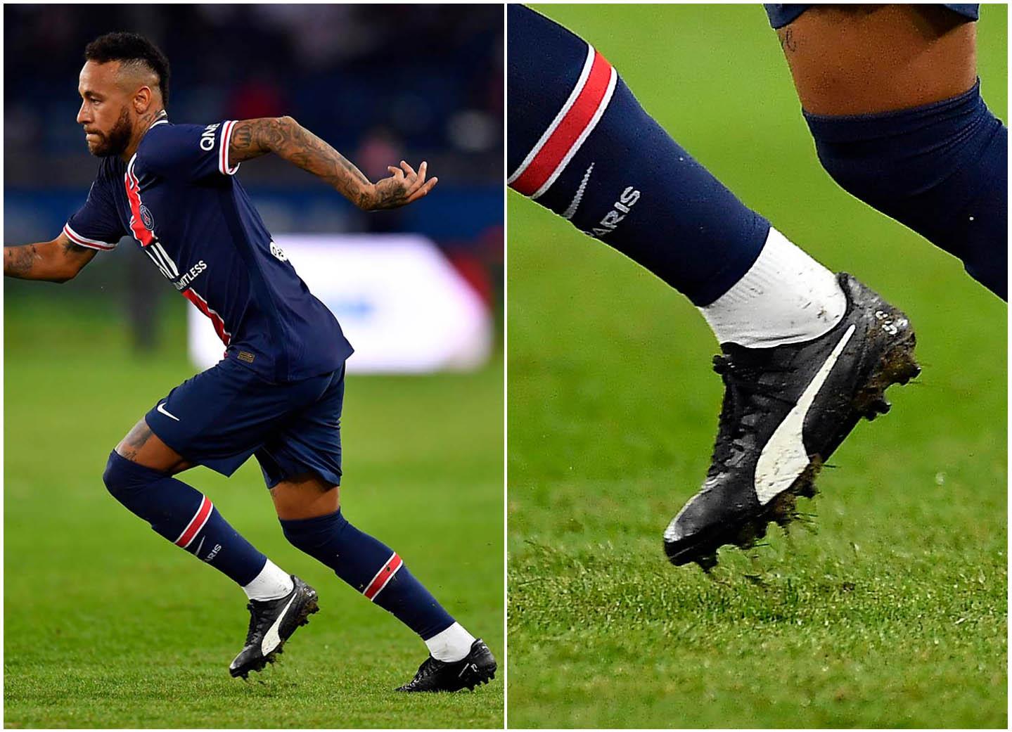 Neymar tuần qua đã sử dụng PUMA King Platinum NJR để thi đấu